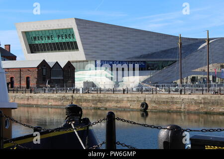 Museum of Liverpool with Imagine Peace John Lennon  exhibition at Liverpool Albert Dock - Stock Photo