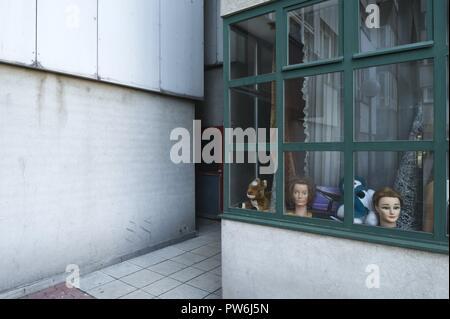 Wien, Wohnhausanlage Am Schöpfwerk, Viktor Hufnagl 1976-1980 - Vienna, Council Tenement Block Am Schoepfwerk, Viktor Hufnagl 1976-1980 - Stock Photo