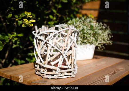 Kerzenlicht im Garten - Stock Photo