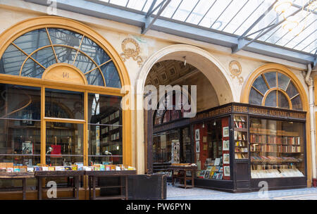 The Galerie Vivienne is a historical passage in Paris, France. - Stock Photo