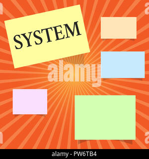 Text sign showing System. Conceptual photo set of things working together as parts mechanism or network. - Stock Photo
