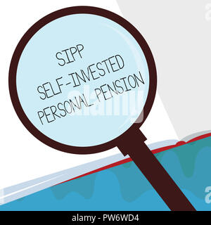 Handwriting text Sipp Self Invested Personal Pension. Concept meaning Preparing the future Save while young. - Stock Photo