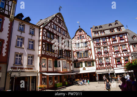 Bernkastel-Kues town on the Moselle - Stock Photo