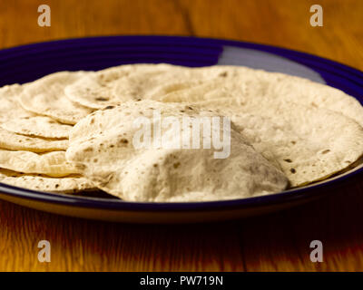 INDIAN BREAD/ CHAPPATI/ROTI MADE OF WHEAT AND ROASTED - Stock Photo