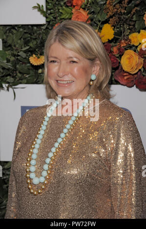 NEW YORK, NY - OCTOBER 11: Martha Stewart attends the 20th Anniversary Gala to Celebrate Hudson River Park at Pier 60 on October 11, 2018 in New York  - Stock Photo