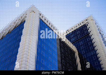 Abstract urbanistic background. Architecture, sculptures and shapes