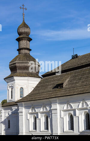 Small wooden rural church in summer. No people - Stock Photo