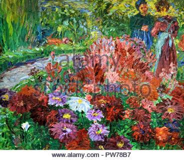 Flower Garden 1908 by Emil Nolde Danish Painter Denmark - Stock Photo