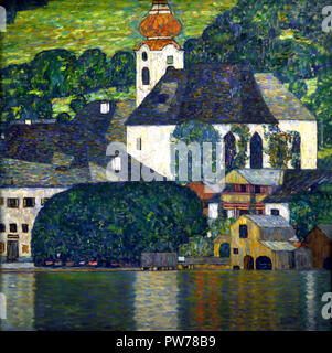 Church in Unterach am Attersee 1916 by Gustav Klimt 1862 – 1918 Austrian symbolist painter of the Vienna Secession movement Austria - Stock Photo