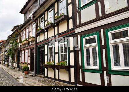 Wernigerode is a beautiful city in the Harz - Stock Photo