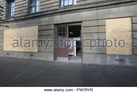 Future site of St Andrews Brewing Company pub in basement of Caird Hall Dundee Scotland  October 2018 - Stock Photo