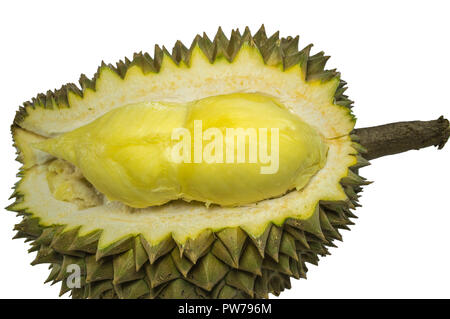 King of fruits, Durian isolated on white background. - Stock Photo