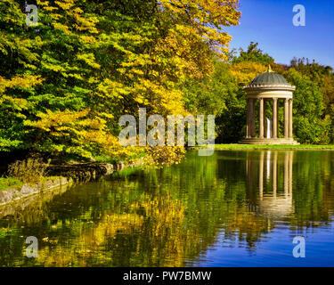 DE - BAVARIA: The Monopteros at Nymphenburg Palace Park (HDR-image) - Stock Photo