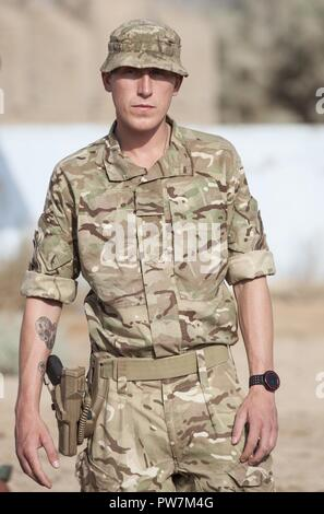 A British trainer, deployed in support of Combined Joint