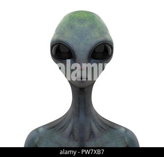 Alien Creature Isolated - Stock Photo