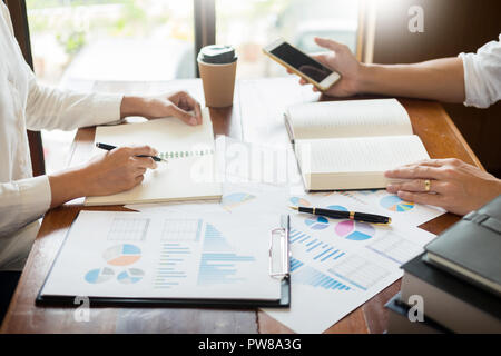 Business presenting to colleagues at a meeting Design Ideas Concept and planning with team working together in the office and entrepreneurship concept - Stock Photo