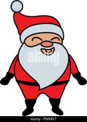 cute santa claus character - Stock Photo