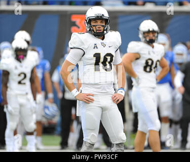 Memphis, TN, USA. 13th Oct, 2018. Central Florida quarterback, McKENZIE MILTON (10), during the NCAA football game between the Memphis Tigers and the Central Florida Knights at Liberty Bowl Stadium in Memphis, TN. UCF defeated Memphis, 31-30. Kevin Langley/CSM/Alamy Live News - Stock Photo