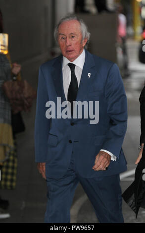 London, UK, Oct 14th 2018: Sir Jackie Stewart seen arriving for the BBC Andrew Marr show at the BBC studios in London. Credit: WFPA/Alamy Live News - Stock Photo