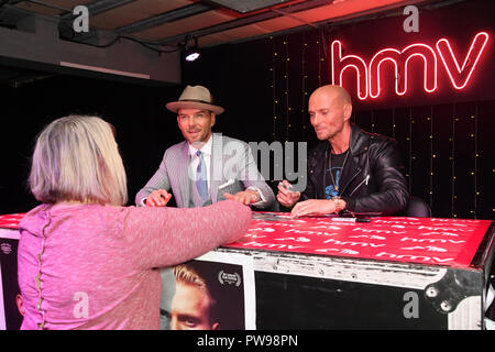 London, UK. 14 October 2018. Iconic 80's band Bros celebrating the DVD release of their documentary 'Bros: After The Screaming Stops' with an exclusive signing event held at hmv's flagship 363 Oxford Street store this coming Sunday 14th October 2018. Credit: Picture Capital/Alamy Live News - Stock Photo