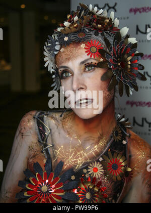 London, UK. 14 October 2018.  United Make Up Artist body painting and special effects competition  in Novo Hotel London @Paul Quezada-Neiman/Alamy Live News - Stock Photo