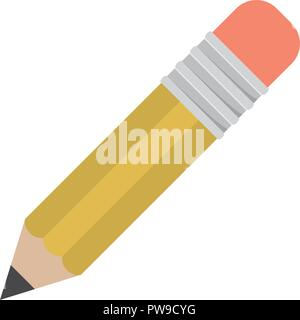Isolated pencil of school concept design - Stock Photo