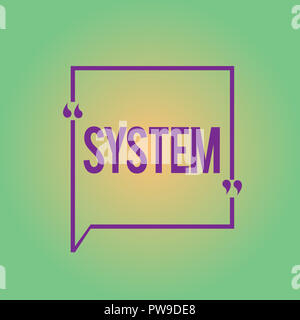 Word writing text System. Business concept for set of things working together as parts mechanism or network. - Stock Photo