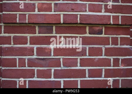 Background of new red brick wall - Stock Photo