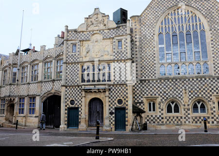 Kings Lynn, Norfolk, UK. September 20, 2018.   The Fiftheen century town hall and Guildhall at Kings Lynn in Norfolk, UK. - Stock Photo