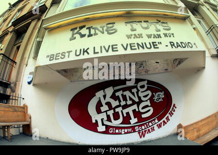 King Tut's Wah Wah Hut frontage, 272A St Vincent St, Glasgow G2 5RL - Stock Photo