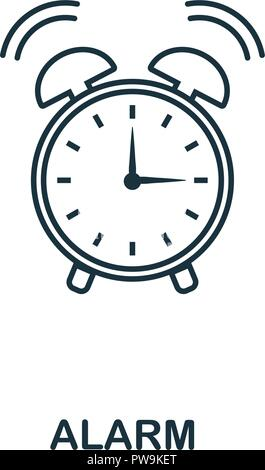 Alarm outline icon. Creative design from school icon collection. Premium alarm outline icon. For web design, apps, software and printing. - Stock Photo