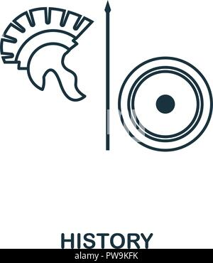 History outline icon. Creative design from school icon collection. Premium history outline icon. For web design, apps, software and printing. - Stock Photo