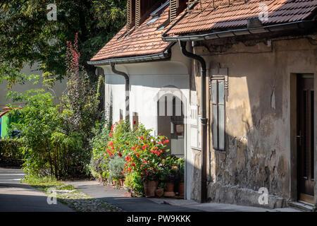Medieval part of Ljubljana city, Slovenia - Stock Photo