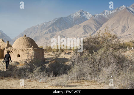 The karakoram Highway, Chinese Side, Xinjiang  Region, China. - Stock Photo