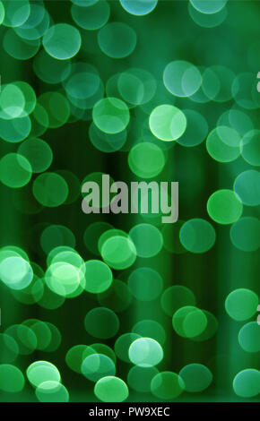 Vertical photo of abstract blurred interior decorated lighting in green color gradation, for background or banner - Stock Photo