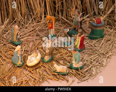 A STILL LIFE SHOWING THE BIRTH OF JESUS CHRIST - Stock Photo