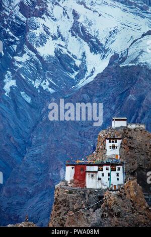 Dhankar gompa in Himalayas, India - Stock Photo