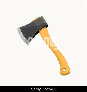 nice wooden axe - Stock Photo