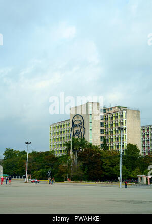 Ministry of the Interior, Revolution Square, Havana, Cuba - Stock Photo