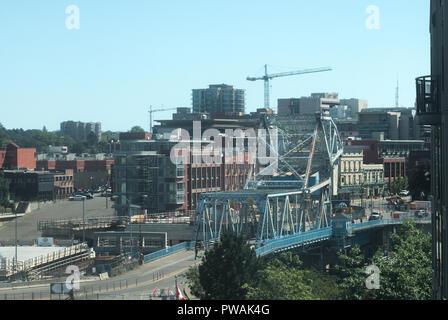 Johnson Street Bridge, Victoria, BC, Canada - Stock Photo