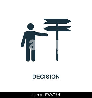 Decision icon. Monochrome style design from business ethics collection. UX and UI. Pixel perfect decision icon. For web design, apps, software, printi - Stock Photo