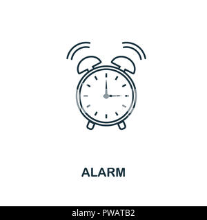 Alarm outline icon. Creative design from school icon collection. Premium Alarm outline icon. For web design and printing. - Stock Photo