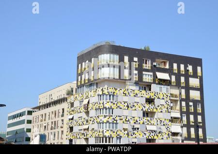 an example of modern architecture in central tirana albania - Stock Photo