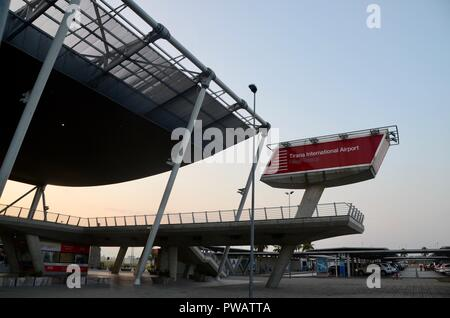 tirana international airport terminal exterior albania - Stock Photo