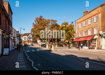 High Street, Highgate Village. - Stock Photo