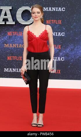 Maniac UK Netlix TV Premiere at the Southbank Centre, London  Featuring: Emma Stone Where: London, United Kingdom When: 13 Sep 2018 Credit: WENN.com - Stock Photo