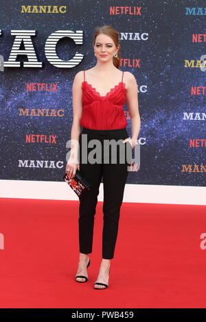 Maniac UK Netlix TV Premiere at the Southbank Centre, London  Featuring: Emma Stone Where: London, United Kingdom When: 13 Sep 2018 Credit: WENN.com - Stock Photo