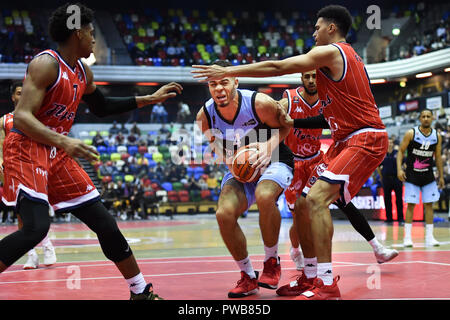 London, UK. 14th Oct, 2018. during British Basketball - ALL STARS BASKETBALL 2018 at Copper Box Arena on Sunday, 14 October 2018. LONDON ENGLAND.  (Editorial use only, license required for commercial use. No use in betting, games or a single club/league/player publications.) Credit: Taka Wu/Alamy Live News - Stock Photo