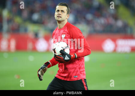 CHORZOW, POLAND - OCTOBER 14, 2018: UEFA Nations League 2019: Poland - Italy o/p Lukasz Fabianski Credit: Marcin Kadziolka/Alamy Live News - Stock Photo