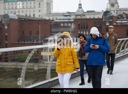 London,UK,15th October 2018,Misty and dull Autumnal day in Central London. Credit: KeithLarby/Alamy Live News - Stock Photo